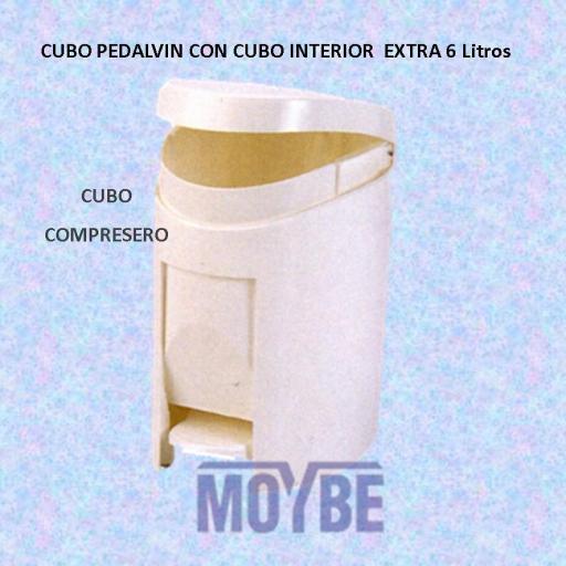 Cubo PEDALVIN con Cubo Interior (6 litros)