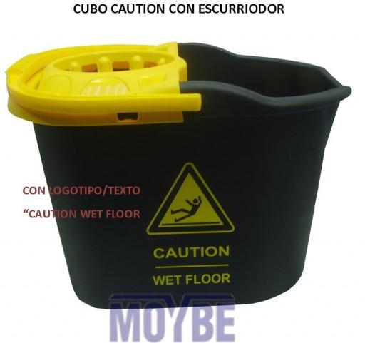 Cubo con Escurridor Rectangular Caution [0]