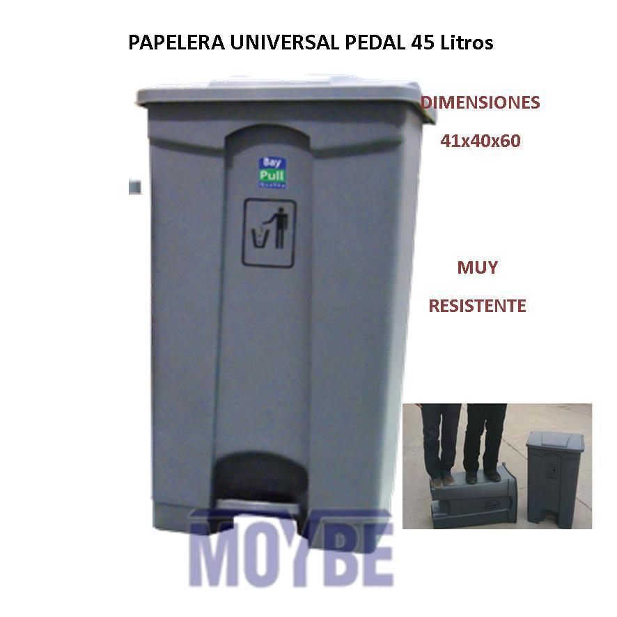 Papelera Con Pedal UNIVERSAL 45 Litros