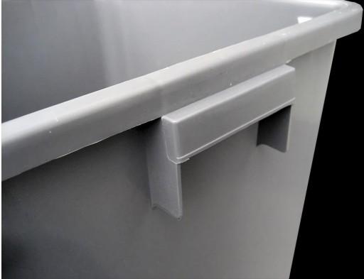 Papelera Gris Tapa Basculante Push (25 litros) [2]