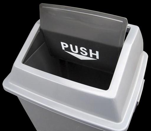 Papelera Gris Tapa Basculante Push (25 litros) [1]