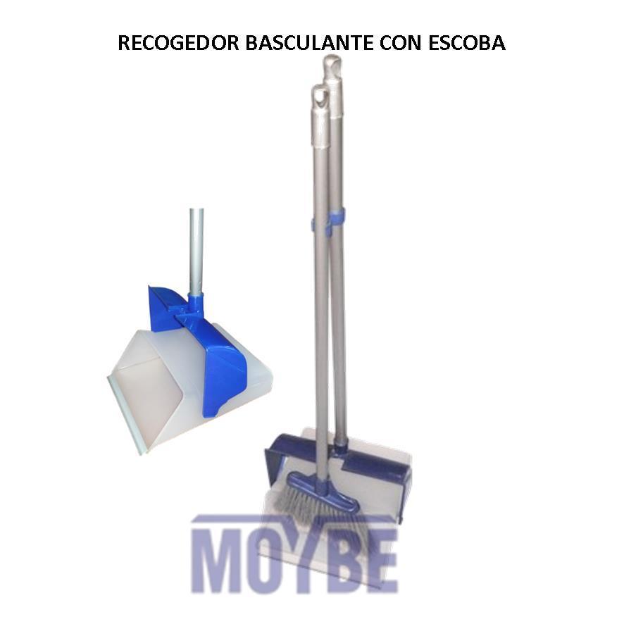Recogedor Plástico Basculante FLEXI con Escoba