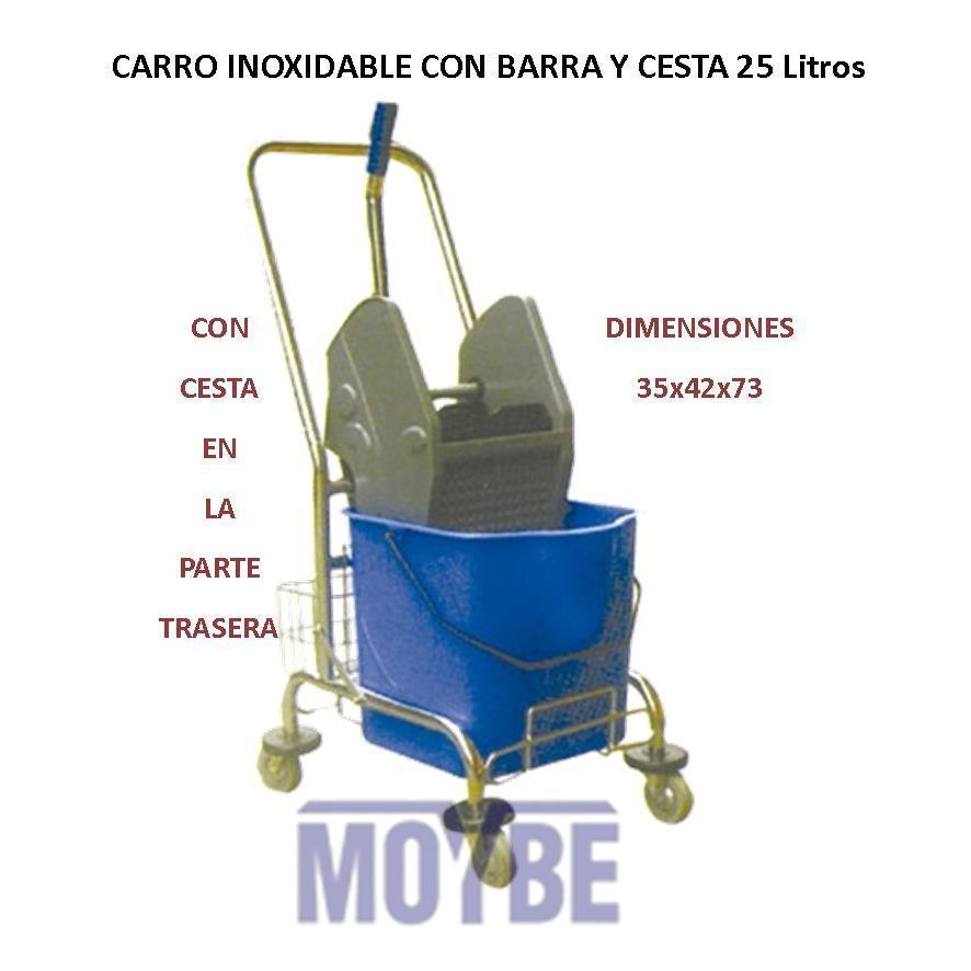 Carro Simple Inoxidable Cubo/Prensa/Cesta/Manillar