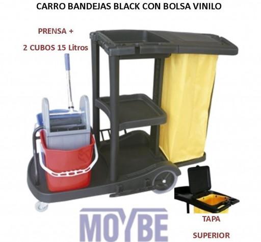 Carro Bandejas Con Bolsa, Prensa y Cubos