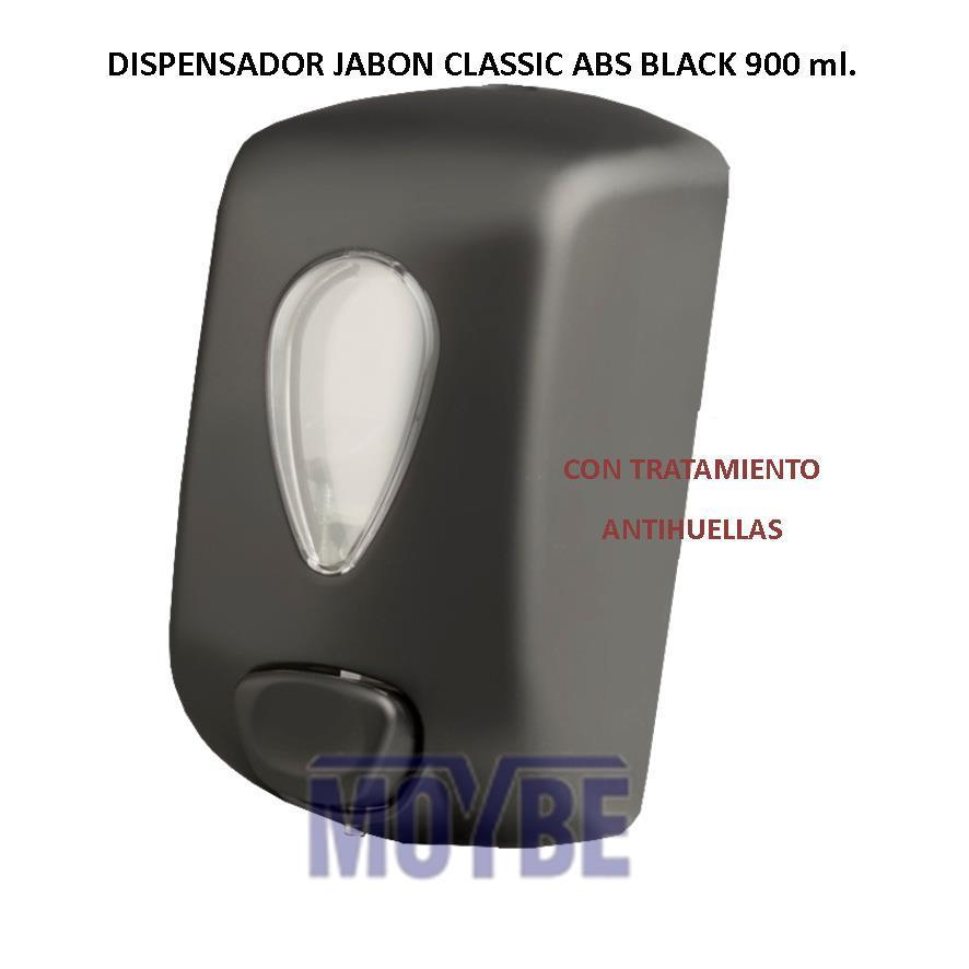 Dispensador Jabón CLASSIC BLACK ABS 900 ml.