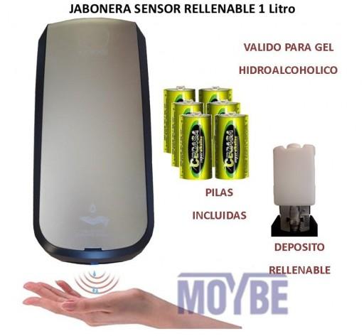 Jabonera Rellenable Con Sensor  1 Litro