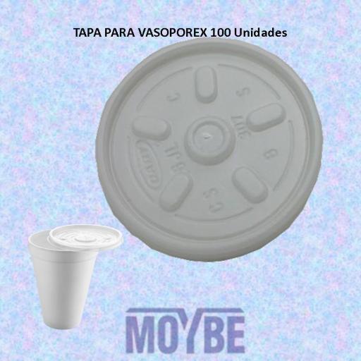 Tapa Para Vaso Porex 7 oz 200 cc Tira 100 Unidades