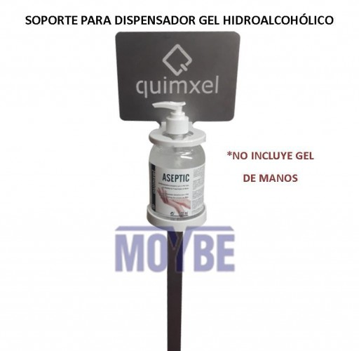 Soporte para Dispensador de Gel Hidroalcohólico QUIMXEL