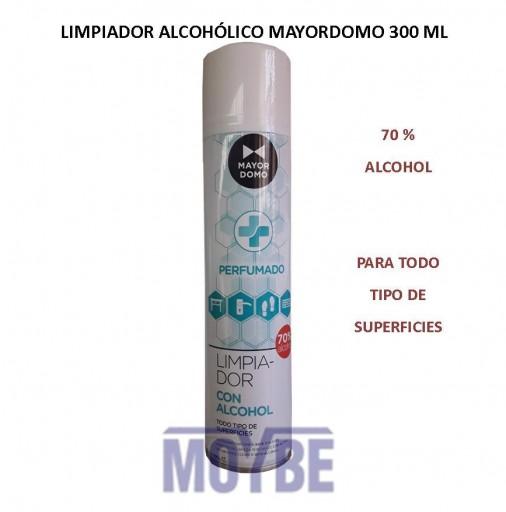 Limpiador Spray Alcohólico Perfumado MAYORDOMO 300 ml