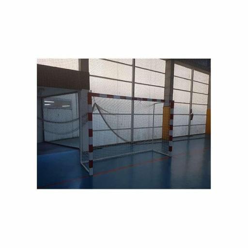 JGO PORTERÍAS F.SALA/BALONMANO METÁLICAS TRASLADABLES 80X80MM CON BASE DE TUBO REDONDO - SOFTEE - 0012506 [3]