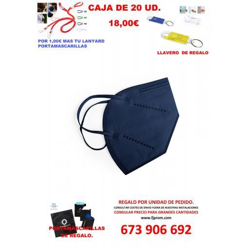 MASCARILLA AUTOFILTRANTE FFP2 AZUL