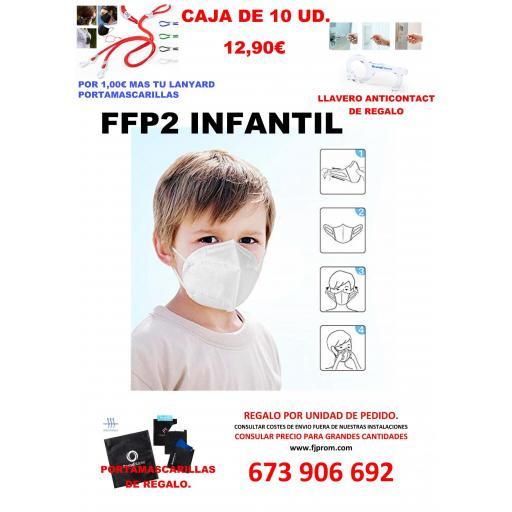 Mascarilla FFP2 INFANTIL NIÑO y NIÑA