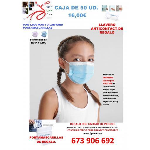 Mascarilla INFANTIL Quirúrgica
