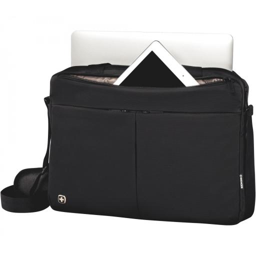 """Maletín Wenger  Format 16"""" Laptop Slimcase with Tablet Pocket, Black 601062 [1]"""