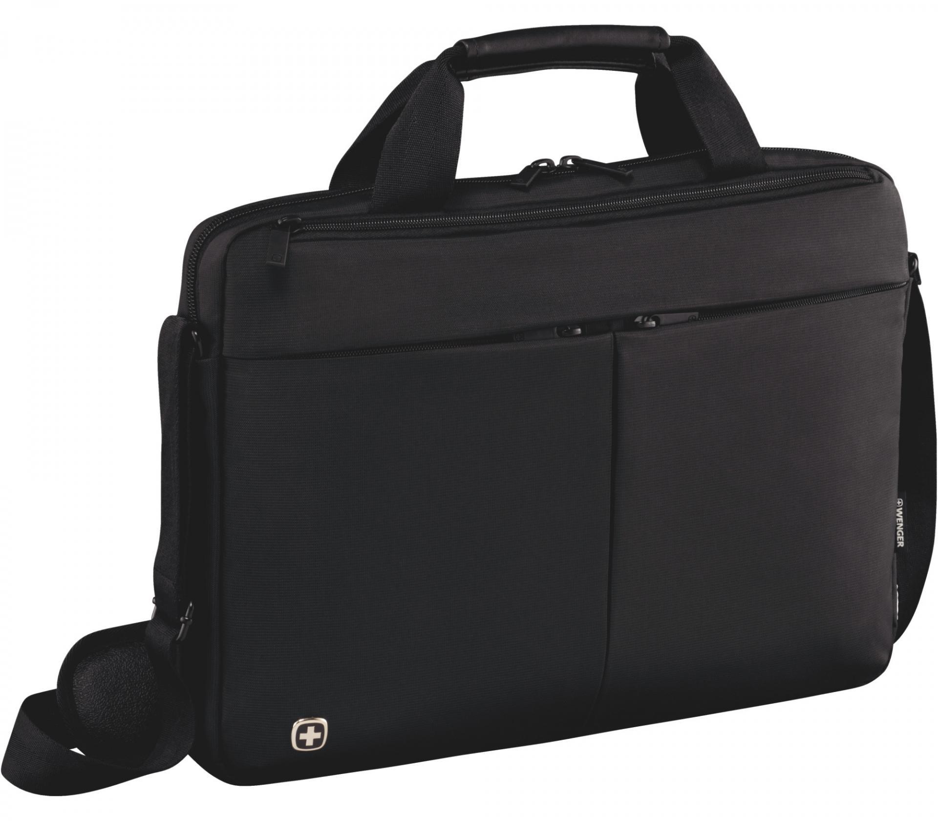 """Maletín Wenger  Format 16"""" Laptop Slimcase with Tablet Pocket, Black 601062"""