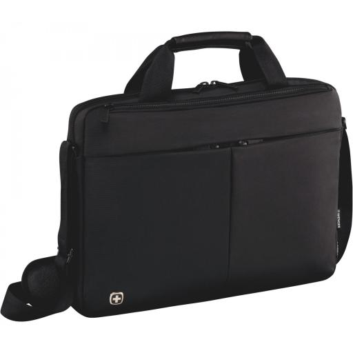 "Maletín Wenger  Format 16"" Laptop Slimcase with Tablet Pocket, Black 601062"