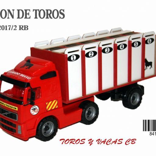 CAMION DE TOROS 6 CAJONES ROJO [3]