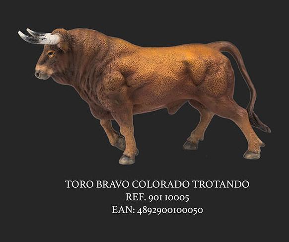 TORO COLORADO TROTANDO