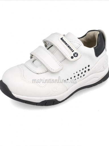 "Biomecanics zapatillas unisex ""Andy"" Blanco/Marino 182195"