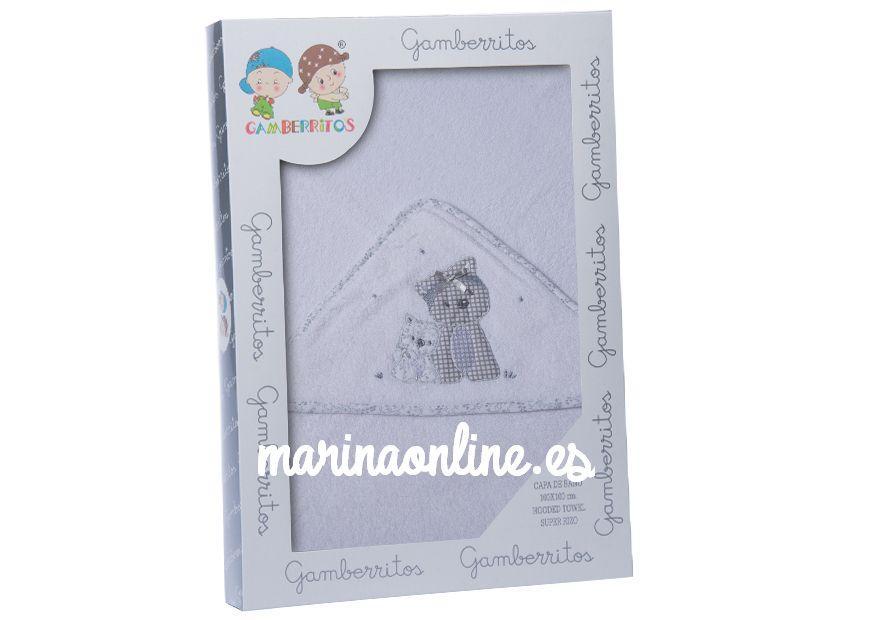 Capa de baño Gamberritos Perrito  BL/GRIS 10398