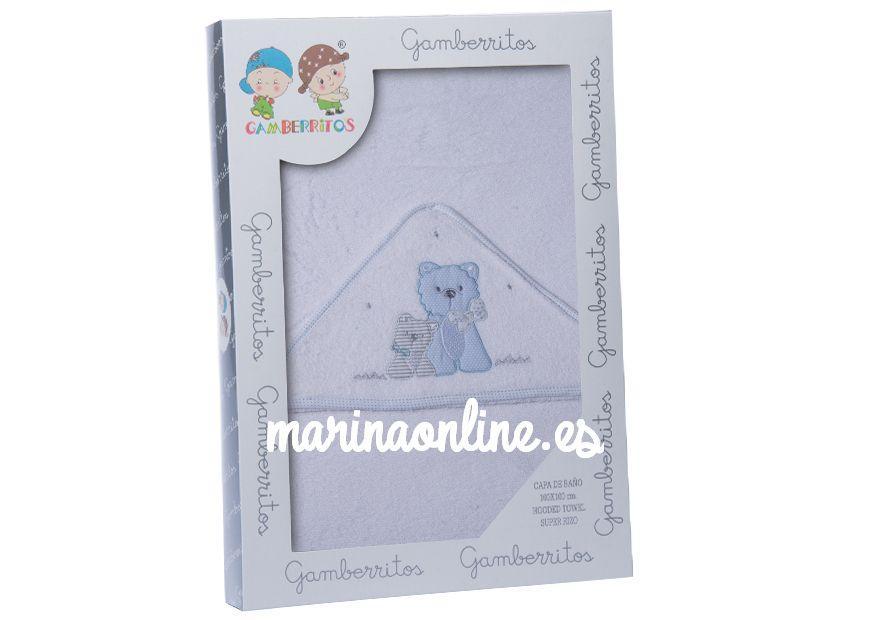 Capa de baño Gamberritos Perrito BL/ azul 10400