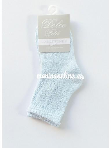 Dolce Petit Calcetines Niño Calado  2503-08/C Celeste