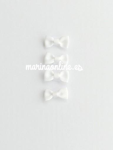 Set de 4 lazos blanco 44053
