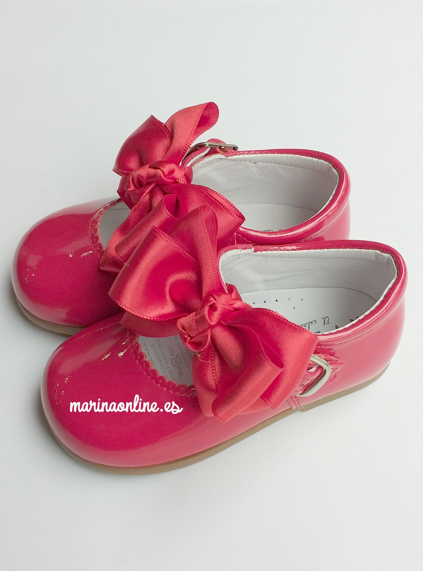 Merceditas Hebilla Charol Pearl Rojo Lazo REF: 11309