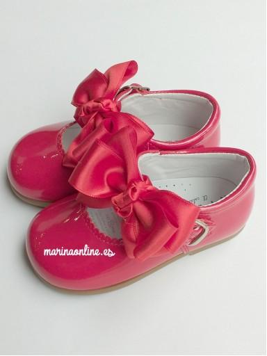 Merceditas Hebilla Charol Pearl Rojo Lazo REF: 11309 [0]