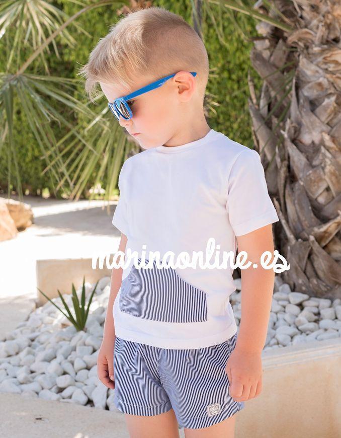 Dolce Petit Conjunto Camiseta Bermuda Infantil Niño  2408/2B