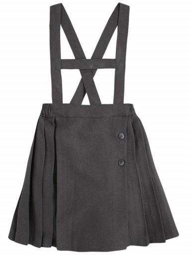 Falda mayoral plisada con tirantes para uniforme escolar 30920