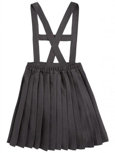 Falda mayoral plisada con tirantes para uniforme escolar 30920 [1]