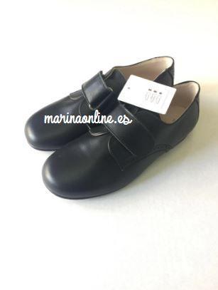 Zapatos Niño Piel Marino Pegar