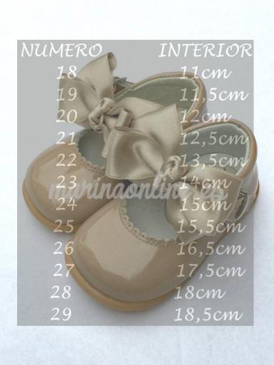 Merceditas Hebilla Charol Camel Lazo REF: 11309 [1]