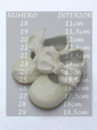 Merceditas Hebilla Charol Salinas Porcelana Lazo REF: 11309 [1]