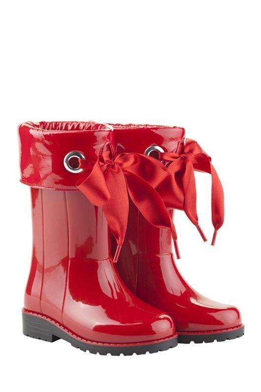 Botas agua charol Rojo 10114 005
