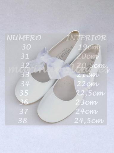 Merceditas Pegar Charol Blanco Lazo 11686 [1]