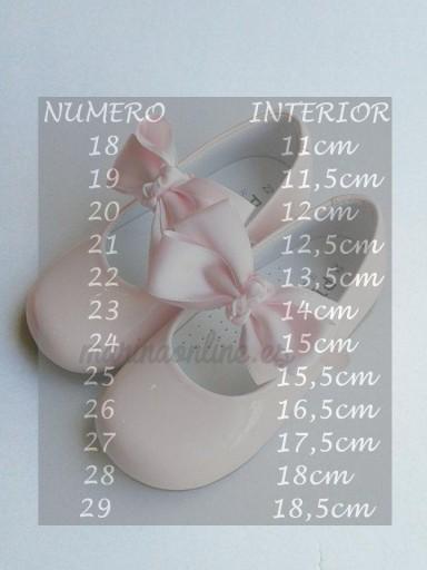 Mercedita Velcro Charol Rosa Lazo REF: 11460 [1]