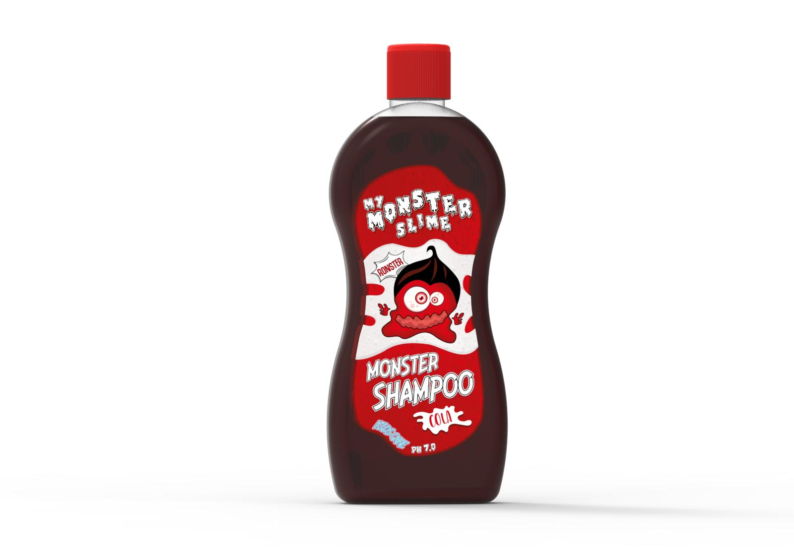 CHAMPU MONSTER COLA con proteinas vegetales 500ML.