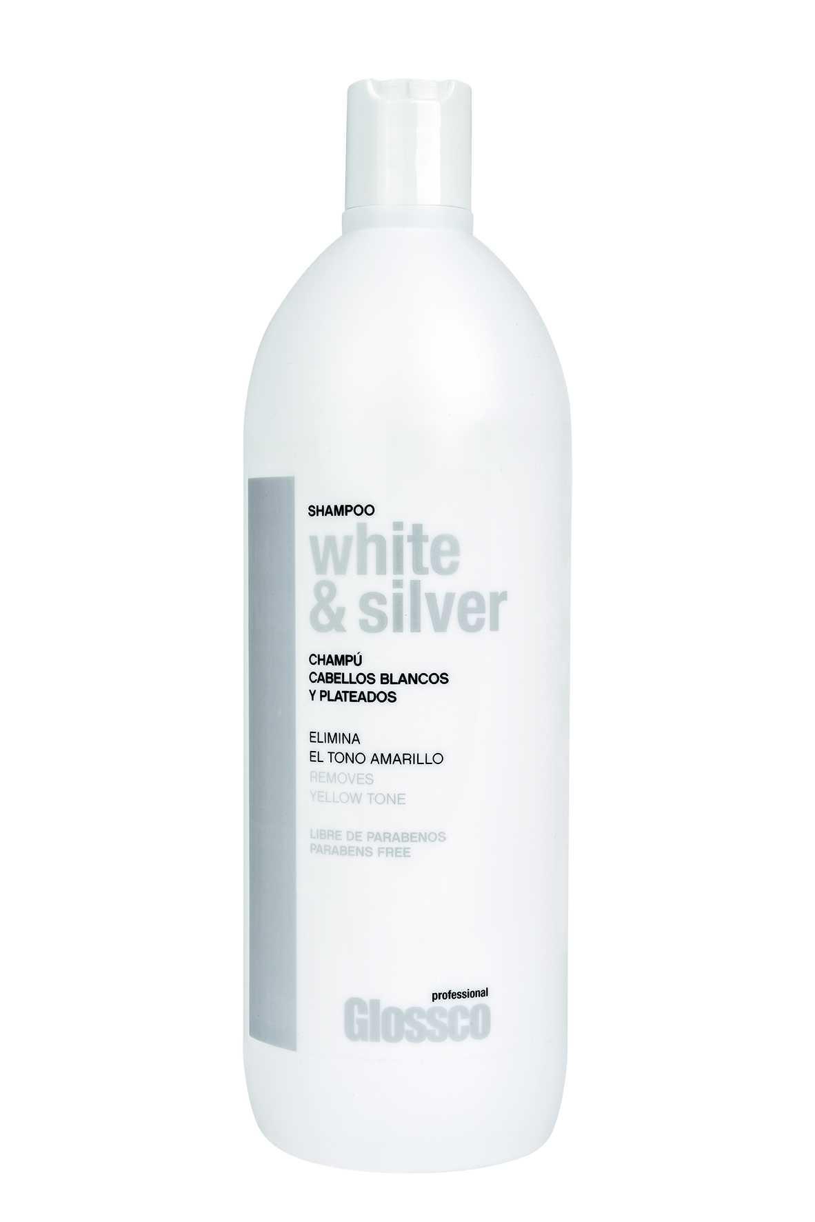 Champu GLOSSCO WHITE&SILVER Cabellos Blancos / Canas