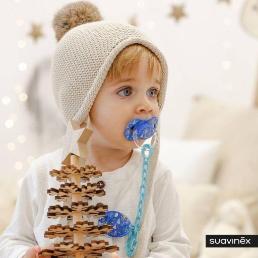 Broche Ovalado Navidad Azul Colección WINTER/NAVIDAD Suavinex +0M [1]