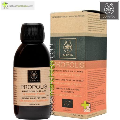 Propolis Jarabe Orgánico para la Garganta con Propóleo y Tomillo Apivita , 150 ml