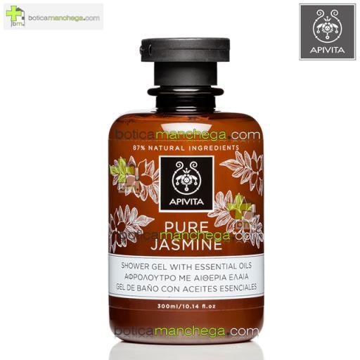 Pure Jasmine Gel de Baño con Aceites Esenciales Apivita, 300 ml