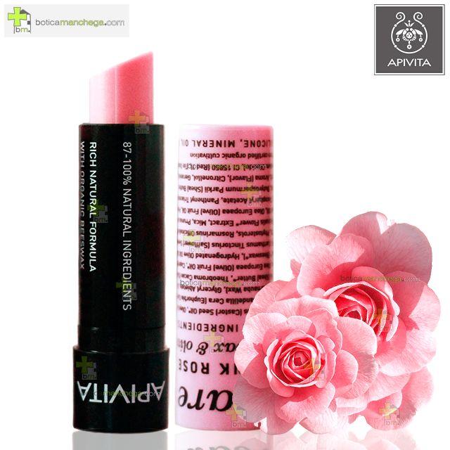 Apivita Lip Care con ROSA Bálsamo Labial