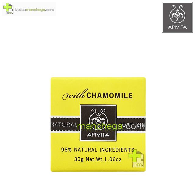 Mini Natural Soap Apivita Jabón Natural Camomila, 30 g
