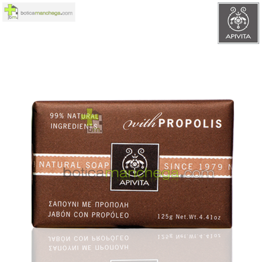 Jabón Natural Propóleo - Apivita Natural Soap Propolis, 125g