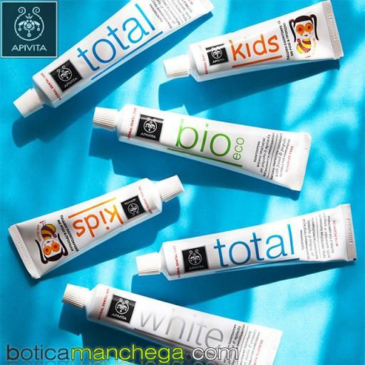 Dentífrico Natural Dental Care con Flúor Crema Dental Blanqueadora con Mástica y Propóleo Apivita, 75 ml [1]