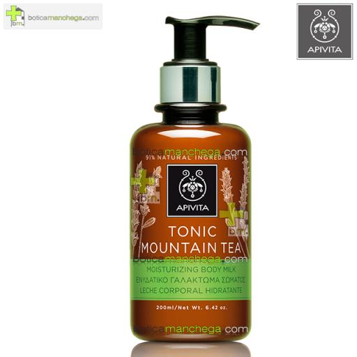 Apivita Tonic Mountain Tea Leche Corporal Hidratante y Tonificante, 200 ml