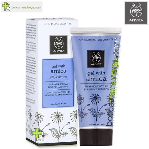 Crema Herbal Gel con Árnica Apivita, 40 ml