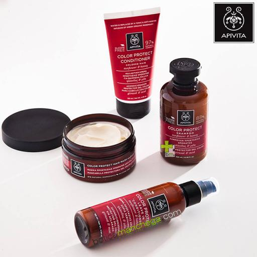 Apivita Acondicionador Protector del Color con Girasol y Miel, 150 ml + REGALO: Cuidado Capilar Holístico a Elegir, 20 ml [1]